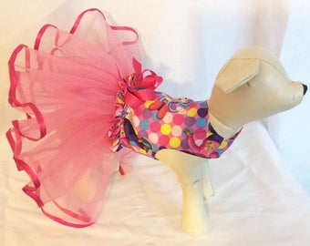 XS Dora The Explorer Dog Tutu Dress