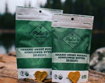 Organic Sweet Potato & Sunflower Butter Dog Biscuits 4.5 oz.
