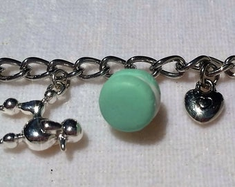"Charm bracelet, American Girl or 18"" Doll, Grace Thomas, Silver, Accessories"