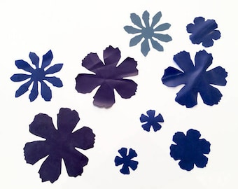 LaTeX flowers applications 10 pieces to the paste, DIY, latex design, color, Sheetlatex, sold by the meter