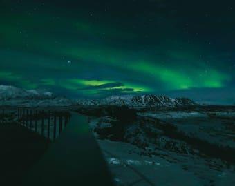 Northern Lights in Iceland Metal Print