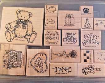 1995 Stampin Up! Button Bear Set