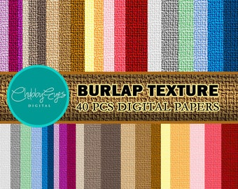 Burlap Texture Digital Papers , Scrapbook Papers, Linen Papers- Instant Download