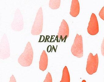 Dream On - 2x2 Original Mini Watercolor Painting