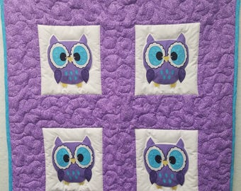 Wide-Eyed Owls baby quilt**PRICE REDUCED