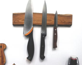 Oak knife rack