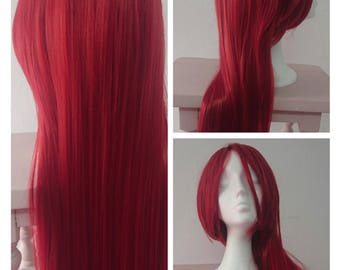 Red wig- Hight quality synthetic hair - 60cm