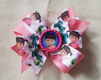 Monsters Inc. - Stacked hair bow