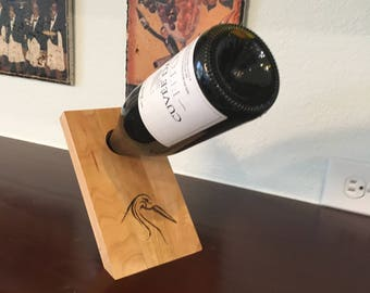 Reclaimed Maple- Wine Bottle Holder, Customize with your design/logo