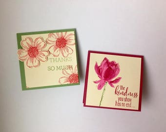 Floral Small Thank You Card Set