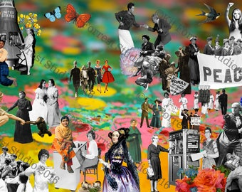 If You Can See It, You Can Be It - International Women's Day,  Digital print of collage (100% of profits to charity)