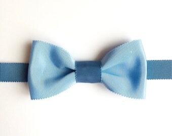 Bow tie blue sky & blue storm - bowtie wedding - gift man - handmade -.