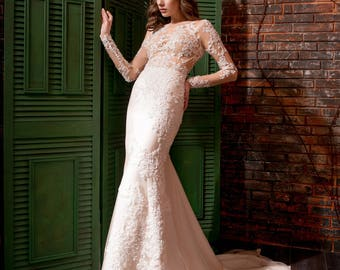 Wedding  dress mirror with flower 3D embroidery