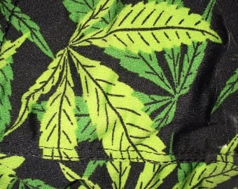 Pot Leaf Footless Tights Leggings One Size