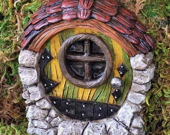 Fairy garden Fiddlehead striped  fairy door