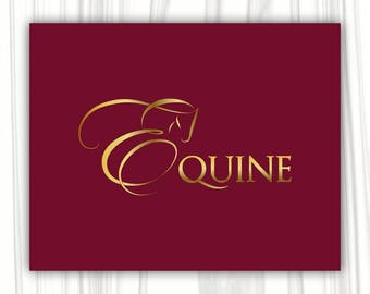 Horse logo design | Premade Logo Design | Photography Logo | Equine Logo | Boutique Logo | Business Logo