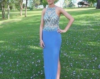 Zircon Blue Formal Gown
