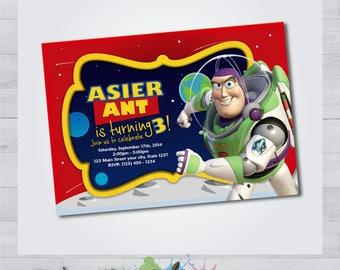 Toy Story Buzz Lightyear Invitation - Toy Story Buzz Lightyear Card - Toy Story Buzz Lightyear Printable - Toy Story Buzz Lightyear Birthday
