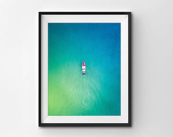 Australia from Above Photo Print, Melbourne Print,Ocean Print, Wall Photo Print, Nature Photo Print, Large Wall Print, Home Decor, Paddler