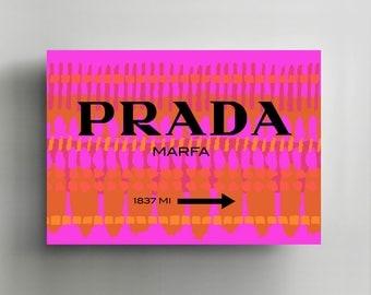 Canvas Wall Art, Gallery Wrapped, Interior Decoration, Modern Art  - 'Found Prada'.