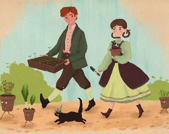 Garden witch print