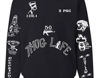 2PAC Tattoo All Eyez On Me Unisex Tattoo Sweatshirt