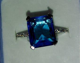 Silver 925 Aquamarine Ring