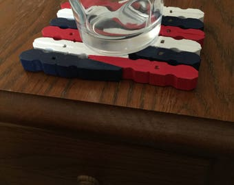 Clothespin Coaster Trivet