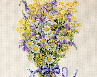 K72-Summer Flowers Cross Stitch Kit by Merejka