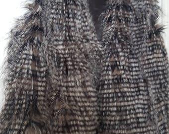 Vintage faux feather gilet