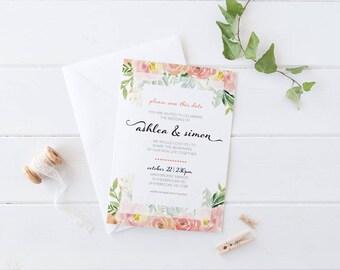 Customised Wedding Invitation Template