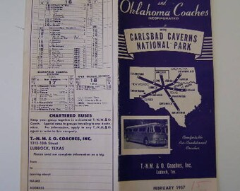 Bus Schedule for Carlsbad Caverns Route Texas - New Mexicoa and Oklahoma Coaches Inc.