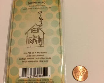 Foam Rubber stamp Family House