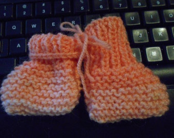 A For Apricot Baby Booties