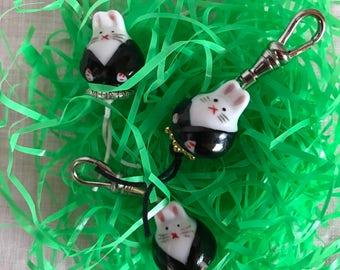 Bunny zip pull zipper pull Easter Gift Spring Gift Kawaii