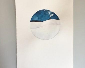 Original Watercolor - Full Snow Moon