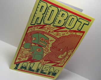 Robot vs. Alien Mini Coloring Comic