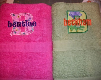 Custom Personalized Embroidered Bath Towel