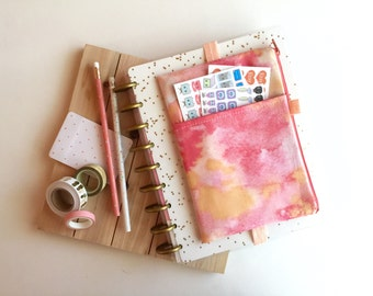 Gradient planner cover - coral - pen pouch - pencil pouch - planner pouch - planner cover - BUJO accessories bag - journaling bag