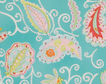 Madalein in Teal  1/2 yard / Pretty Little Things by Dena Designs  / Cotton, Quilting Craft and Apparrell fabric / Out of Print!