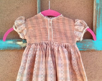 Vintage 1960s Baby Dress Sundress 60s Baby Clothes 6 Months