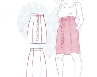 Colette 1005 - BEIGNET SKIRT - Sewing Pattern - Multi Sizes 0 to 18 - UNCUT