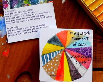 blessing of care - prayer cards - 4 x 4 inches
