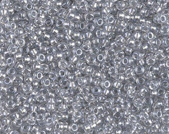 Toho 11/0 Sparkle Pewter Lined Crystal Seed Bead in 1, 5 or 10 gram package