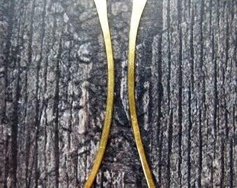 Brushed Bright Brass Blades - 1 pair - 16 gauge - 2 inch Bars