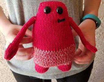 READY TO SHIP: Carlos the Petite Monster, Knit with Love