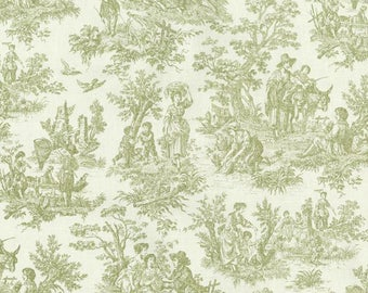 Waverly Charmed Life Tarragon Green Toile Home Decorating Fabric By The Yard