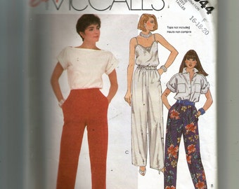 McCall's Misses' Pants Pattern 2044