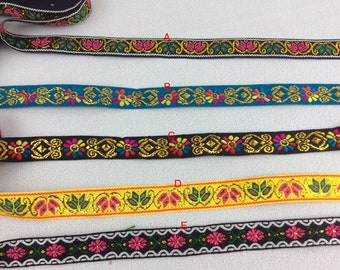 Asian ethnic embroidery lace