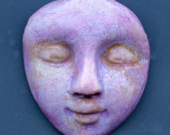 """Polymer clay One of a kind Purple Undrilled 1 1/2""""  face cab PADF 1"""